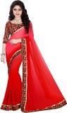 Active Plain Fashion Georgette Sari