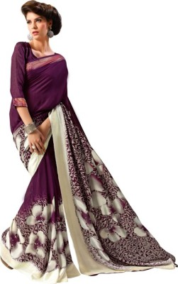 Animesh Printed Fashion Synthetic Georgette Sari