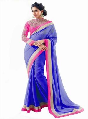 Bhargav Sarees Embriodered Fashion Handloom Chiffon Sari