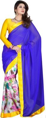 Varsiddhi Animal Print Fashion Georgette Sari