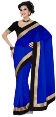 Raa Sha Plain Fashion Chiffon Sari