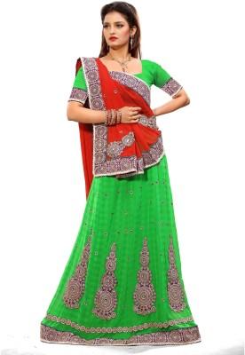 Preeti Solid Lehenga Saree Chiffon Sari