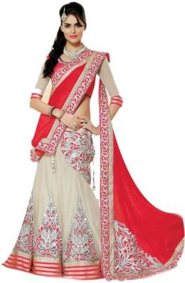 Greenvilla Designs Embriodered Lehenga Saree Net Sari