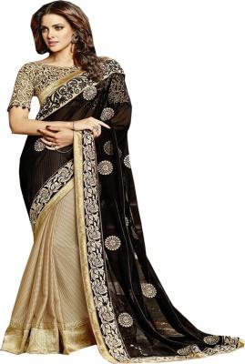 SHS Embriodered Fashion Georgette, Art Silk Sari