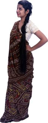 Aaradhya Fashion Printed Bandhej Crepe Sari