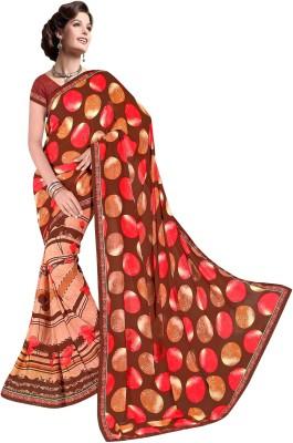 nimi fashion Printed, Self Design, Floral Print Daily Wear Georgette Sari