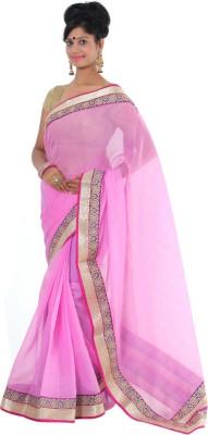 Vikrant Collections Striped Chanderi Jute Sari