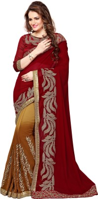 Onlinefayda Embriodered Bollywood Georgette Sari