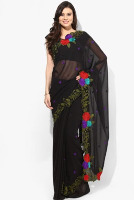 Nhp Fashion Embriodered Rajkot Synthetic Georgette Sari