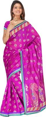 MGS Self Design Fashion Handloom Art Silk Sari