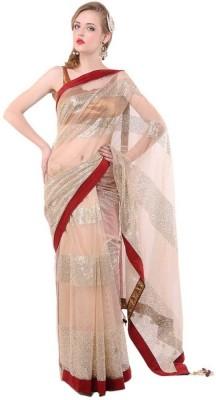 Ethnic Era Solid Fashion Net Sari
