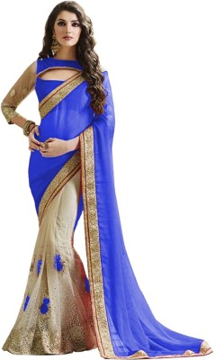 Cozee Shopping Embriodered Fashion Georgette, Net, Lace Sari