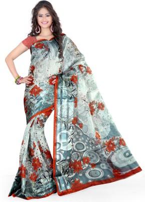 Lucky Fashion Printed Bollywood Art Silk Sari