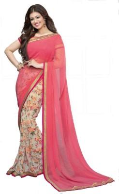 MatindraEnterprise Printed Bollywood Chiffon Sari
