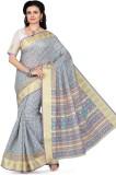 Mann Printed Gadwal Cotton Saree (Light ...