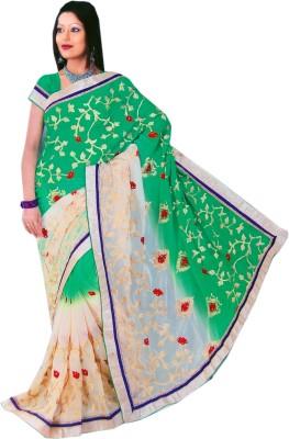 Shubham tex Floral Print Fashion Georgette Sari