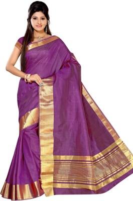 Alankrita Self Design, Woven, Solid Kanjivaram Tussar Silk, Silk, Art Silk Sari