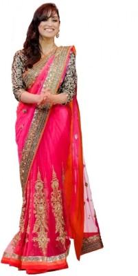 Kpcreation Embriodered Bollywood Net Sari