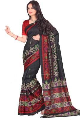 Swaranjali Paisley, Floral Print Fashion Art Silk, Cotton Sari
