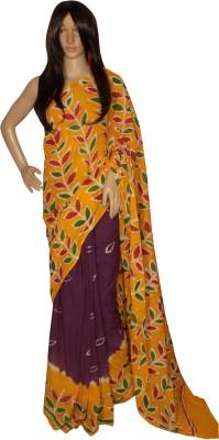 KheyaliBoutique Floral Print Hand Batik Handloom Cotton Sari