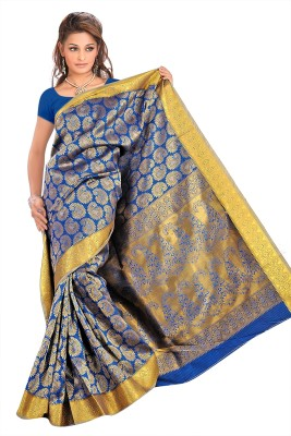 Thelibazz Self Design Fashion Pure Silk Sari