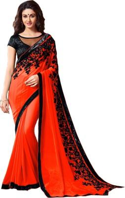 Lady Berry Self Design Fashion Georgette Sari