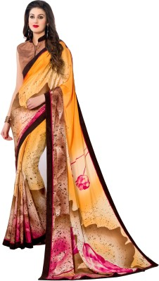 Styleworld Printed Fashion Silk, Crepe Sari
