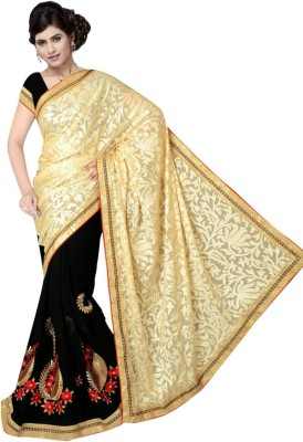 Dkcreation Embriodered Fashion Brasso Fabric Sari
