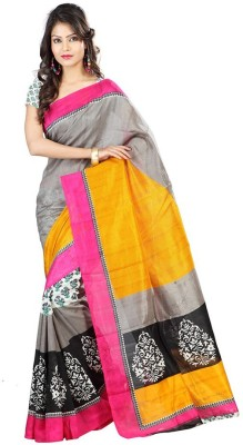 Laxmi Fashion Printed Bhagalpuri Silk Sari