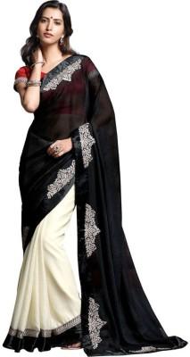 Laxmipati Embriodered Fashion Pure Chiffon Sari