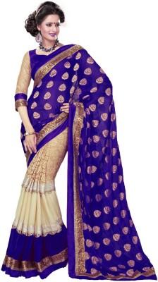 leepsprints Self Design Bollywood Georgette Sari