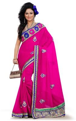 Chhabra Bros Embriodered Fashion Handloom Georgette Sari