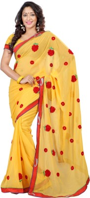Kalash Sarees Embriodered Fashion Chiffon Sari
