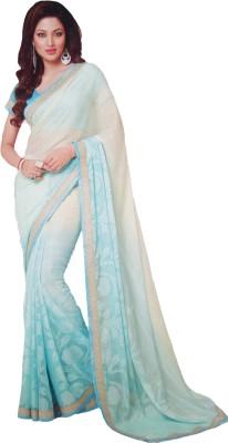 Shaarada Self Design Fashion Synthetic Georgette Sari
