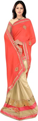 stylish sarees Embriodered Bollywood Synthetic Sari