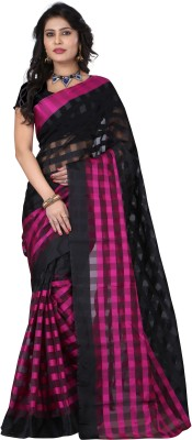 FabPandora Printed Fashion Silk Sari(Pink) at flipkart