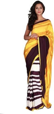 Jugniji Striped Fashion Handloom Art Silk Sari