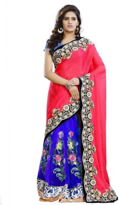 KBDESIGN Embriodered Bollywood Georgette Sari