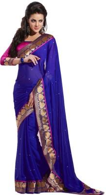 Moiaa Solid Bollywood Georgette Sari