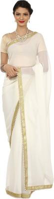 Adaaya Solid Fashion Georgette Sari