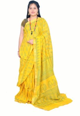 Rashmi Boutique Embellished, Printed Maheshwari Cotton Sari