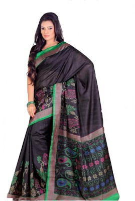 Swaranjali Floral Print, Paisley Fashion Art Silk Sari