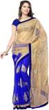 3NH Self Design Bollywood Net Saree (Blu...