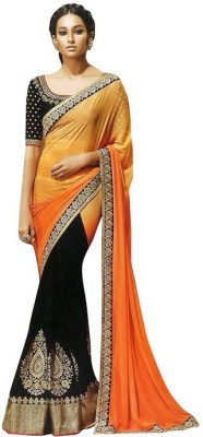 EthnicBasket Embriodered Fashion Handloom Georgette Sari
