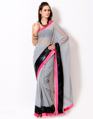 EthnicPark Self Design Fashion Chiffon Sari