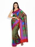 Boondh Printed Art Silk Saree (Green)