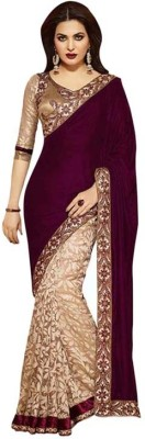 Sundari Fashion Self Design Bollywood Handloom Velvet Sari