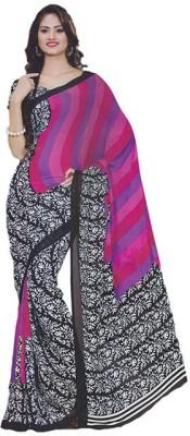 Ak designs Printed Daily Wear Crepe Sari
