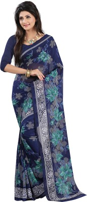 Ishin Printed Fashion Georgette Saree(Multicolor) at flipkart