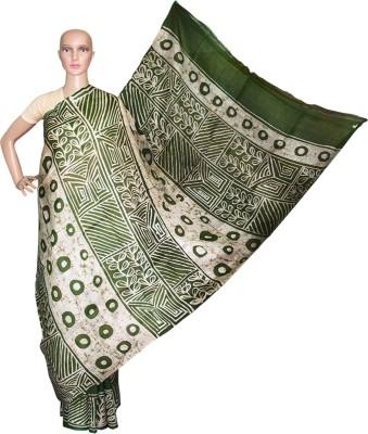 Prateeti Printed Hand Batik Pure Silk Sari